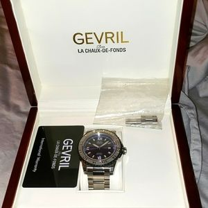 NWOT Gevril 3120B  Seacloud Swiss Automatic Blue D
